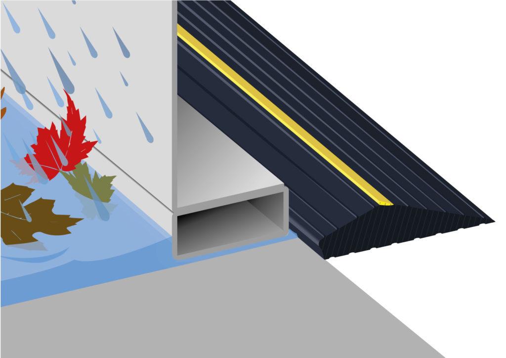 garage modernist seals cleverseal door seal wonderful water dam threshold