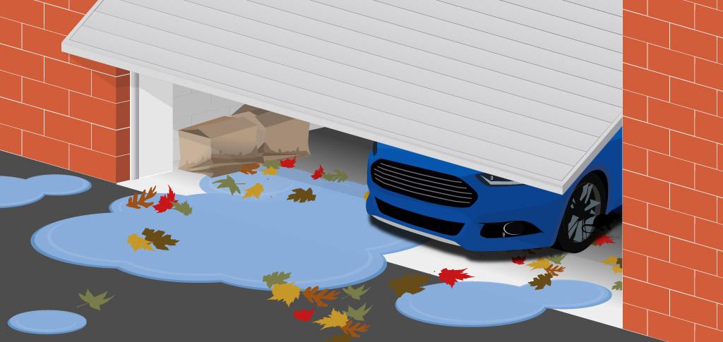 Weather Defender with up & over garage door - before