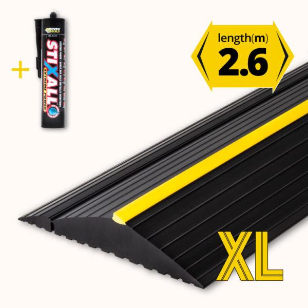 Garage door floor seal XL 2.6m