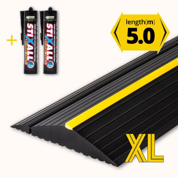 Garage door floor seal XL 5.0m